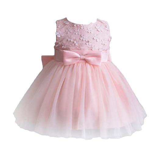 437d9f676c Amazon.com: OBEEII Baby Girl Lace Flower Tutu Dress First Communion ...