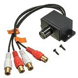 AUDEW Car Audio Amplifier Volume Control Knob Bass Remote RCA Level LC-1 Universal