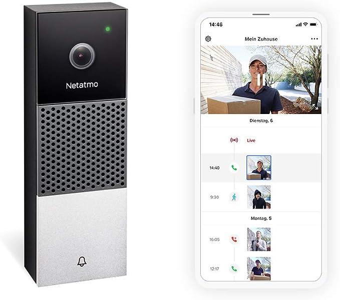 Netatmo Smarte Videotürklingel Mit Kamera Wlan 2 Wege Audio Personenerkennung Ohne Abonnement 1080p Hd Video Nachtsicht Einfache Verdrahtete Installation Ndb De Baumarkt