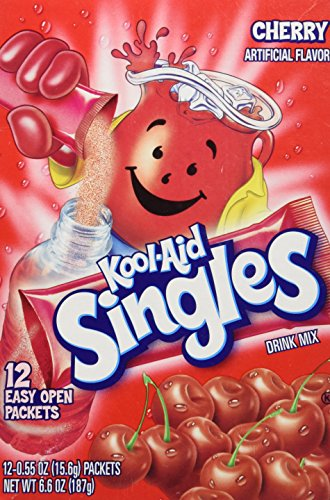 Aid Single - Kool-aid Singles Cherry (For 16.9-ounce Bottles), 12-count Packets (1 Box))