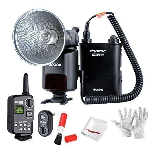 Godox Witstro AD360 High Power External Portable Flash Light Speedlite Kits with 16 Channels Trigger kit and Lithium Battery Pack for DSLR Camera by Godox