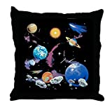 Throw Pillow Solar System And Asteroids