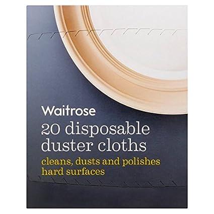 Desechable plumero seco Toallitas Waitrose 20 por paquete