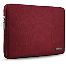 ZinMark Laptop Sleeve for 13 Inch 2017 New MacBook Pro   12.3 Inch Surface Pro 2017 / 3 /4   13.3 Inch Acer/Ausu/Dell/HP/Toshiba/Lenovo Polyester Spill-Resistant Laptop Bag Case Cover, Red