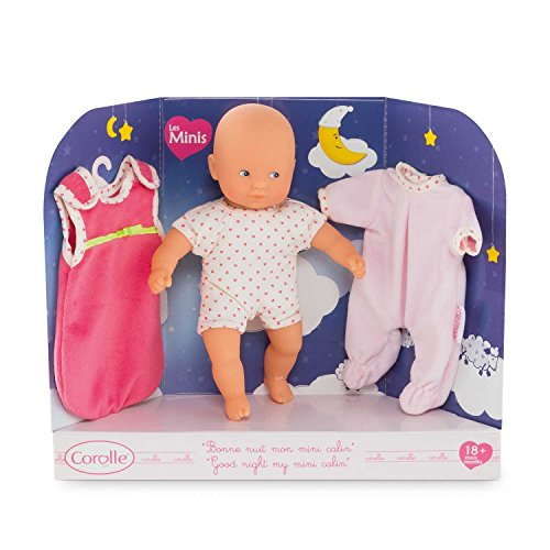 Corolle Good Night My Mini Calin Baby Doll, Pink ()