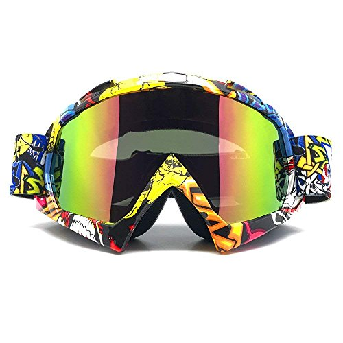 (ZDATT Professional Adult Motocross Goggles Dirtbike ATV Motorcycle Gafas UV Protection Motorbike Ski Snowboard Goggles)