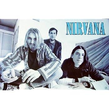 Amazon Com Kurt Cobain Nirvana Poster Rare Group Shot