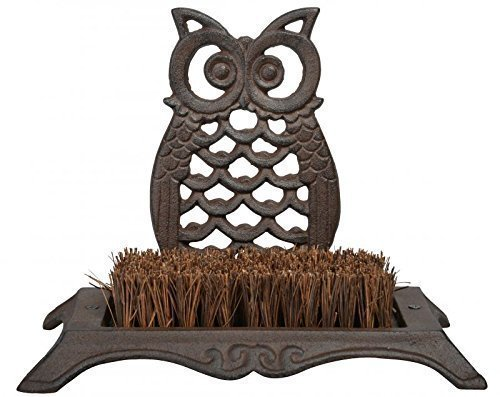 Cast iron Owl bootscraper, cast iron owl doormat, owl mat, owl doormat, owl brush, owl shoes brush.
