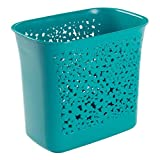 InterDesign Blumz Wastebasket Trash Can for Bathroom, Kitchen, Office - Teal