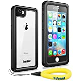 Temdan iPhone 7/8 Waterproof Case with Kickstand and Floating Strap Built in Screen Protector Transparent Cover Shockproof Snowproof IP68 Waterproof Case for iPhone 7&iPhone 8(2017)