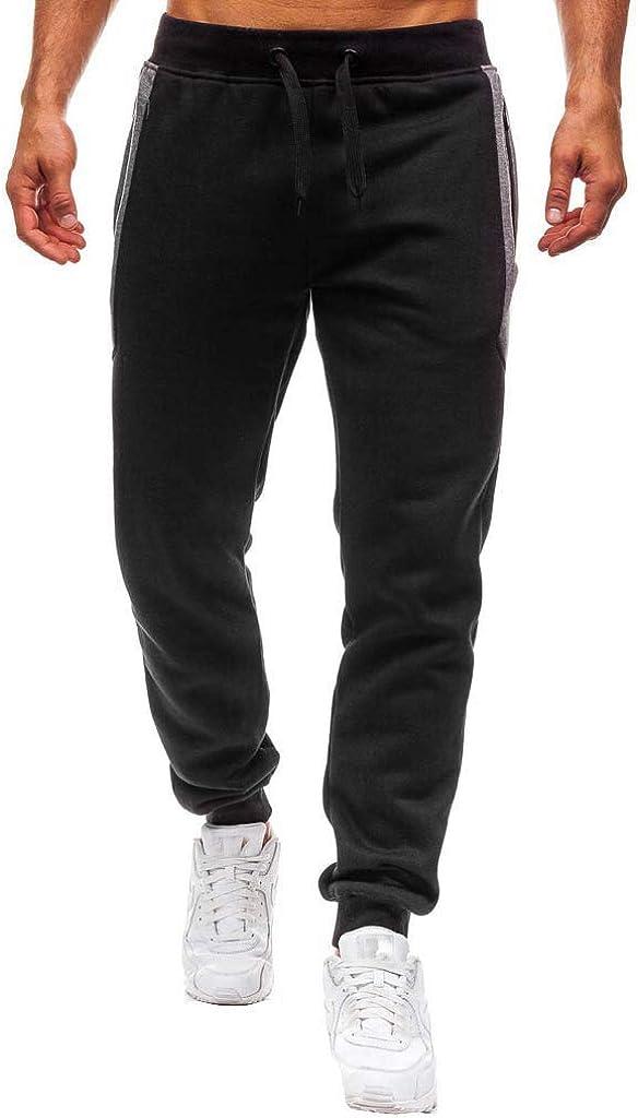 Briskorry Mens Gym Jogger Pants Training Workout Slim fit Sweatpants Casual Drawstring Sports Trouser