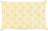 Kess InHouse Apple Kaur Designs ''Diamonds'' Yellow Squares Dog Bed, 30 by 40-Inch
