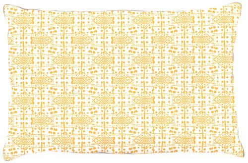 Kess InHouse Apple Kaur Designs ''Diamonds'' Yellow Squares Dog Bed, 30 by 40-Inch by Kess InHouse