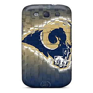 Ultra Slim Fit Hard Redhappy Case Cover Specially Made For Galaxy S3- St. Louis Rams