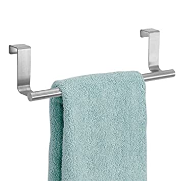 mDesign Handtuchhalter ohne Bohren montierbar - Handtuchhalter Küche ...