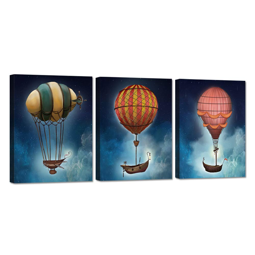 iHAPPYWALL 3 Pieces Space Theme Canvas Wall Art