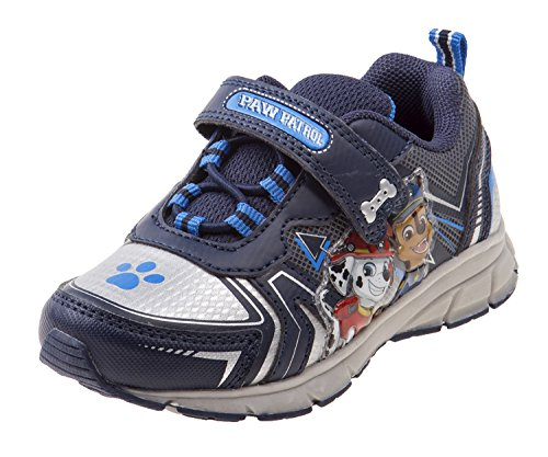 Image of Josmo Paw Patrol Light Up Sneakers with Velcro Strap for Toddler Boys