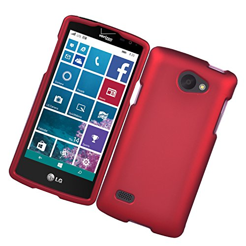 LG Lancet VW820 Case, Eagle Cell Rubberized Hard Snap-in Case Cover for LG Lancet VW820, Red Dark Red Rubberized Snap