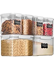 Airtight Food Storage Containers with Lids BPA Free & 100% Leak Proof Food Containers Set - Dry Food Storage Container Set for Cereal, Flour, Sugar, Coffee, Rice, Nuts, Snacks, Pet Food
