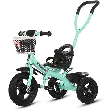 Hejok Bicicleta Triciclo, Triciclos para NiñOs NiñAs Empujar/Pedalear Triciclo para NiñOs Bebé Infantil 3 Ruedas Bicicleta De Paseo con Dosel Y Canasta, Green: Amazon.es: Deportes y aire libre