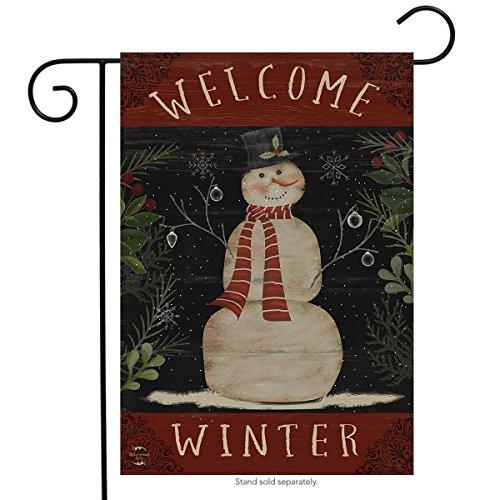 Briarwood Lane Welcome Winter Snowman Garden Flag Primitive Seasonal 12.5