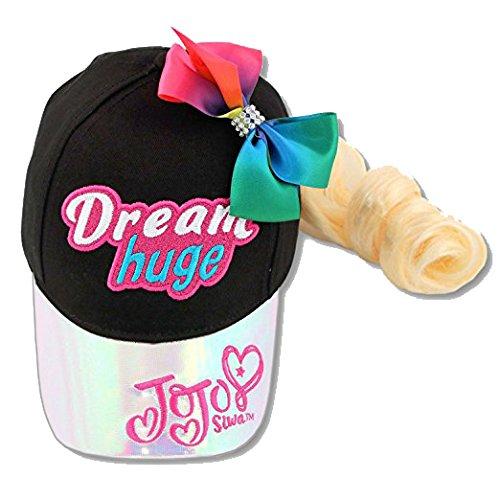 Jojo Siwa Baseball Cap Rainbow Bow Amp Blonde Hair Extension