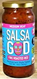 Salsa God Salsa Medium Fire Roasted Red 16.0 OZ(Pack of 12)