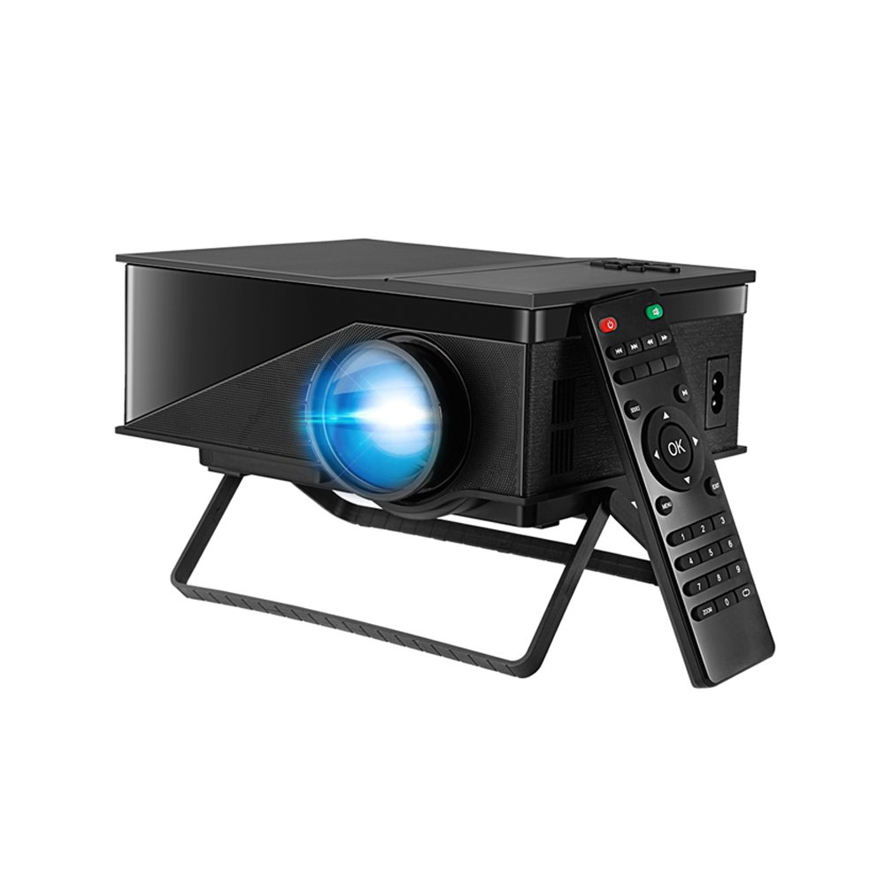 Camecho Video Projector 1080P with USB / SD / AV / HDMI/ PC-RGB /VGA Input for Home Cinema TV PS3 Game Stand Type
