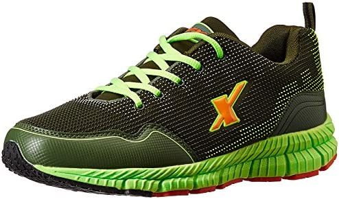 f89117c4db85f8 Sparx Men's Olive and Fluorescent Green Running Shoes - 10 UK/India (44 EU