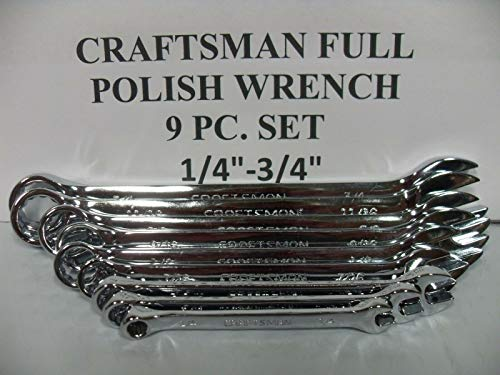 (Craftsman Full Polish Combination Wrench Set SAE >3/4