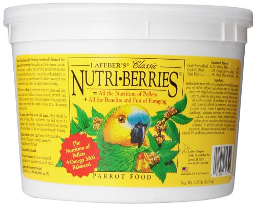 Berry Bird Food (LAFEBER'S Classic Nutri-Berries Parrot Food 3.25 lb)
