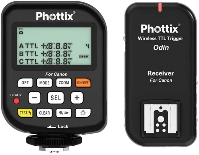 Phottix Odin TTL Flash Trigger//Receiver Kit for Canon