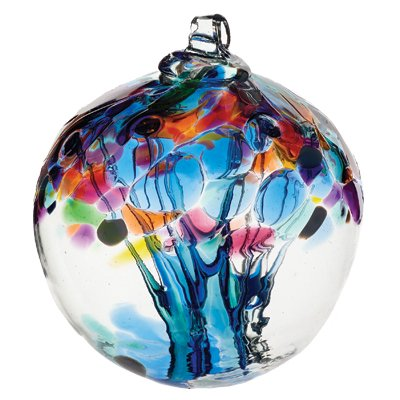 Kitras Caring Witch Ball OOAK Glass Handblown 2.75 New Release - New Kitras Glass