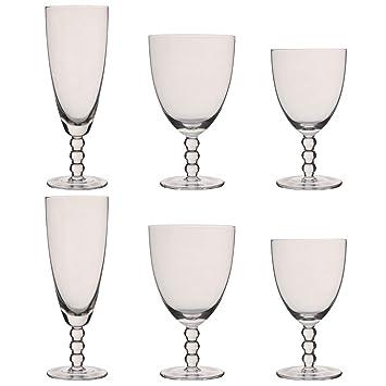 Bella Perle - Juego de copas de vino y agua de champán (6 unidades): Amazon.es: Hogar