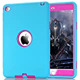 iPad Mini 4 Case - ZERMU 3in1 Heavy Duty Shockproof Rugged Cover Silicone+Hard PC Bumper High-Impact Shock Absorbent Resistant Armor Defender Full Body Protective Case for iPad Mini 4 2015 Model