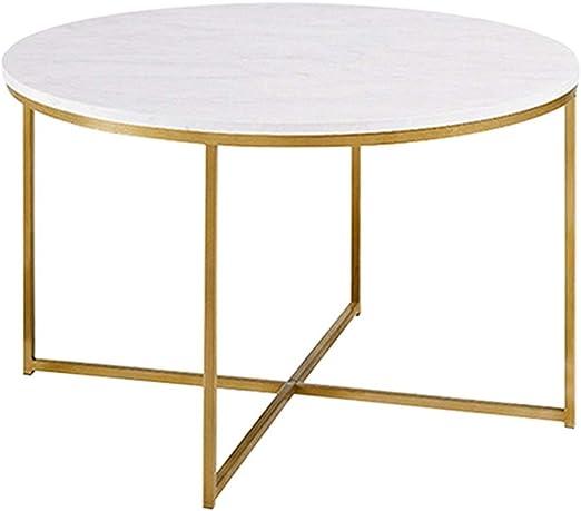 Amazon Com Hanshan Side Table Coffee Table Wrought Iron Marble