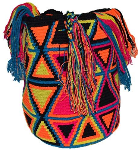 Bolso Colombiano Wayuu Autentico Algodón Salvaje Negro: Amazon.es: Zapatos y complementos