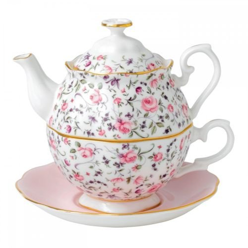 Royal Albert Rose Confetti Tea For One (Doulton Set Tea Royal)