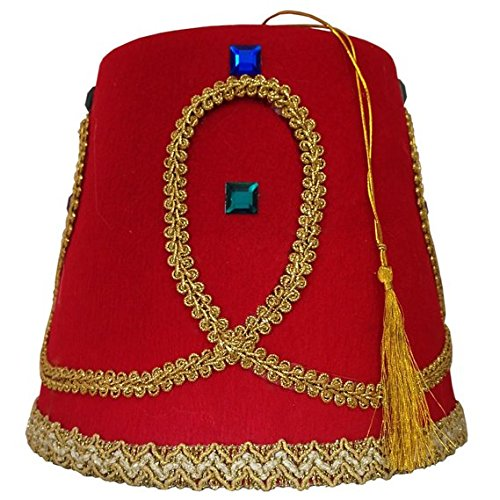 Jacobson Hat Company Men's Fez, Red, Adult