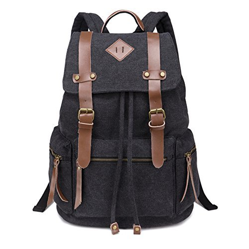 BeautyWill-Vintage-Canvas-Backpack-Rucksack-for-School-Travel-Hiking