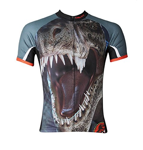Man Short Sleeves Dinosaur Cycling Jersey Bike Sportswear (XL)