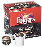 Folgers Black Silk Coffee, Dark Roast, K-Cup Pods for Keurig K-Cup Brewers, 18-Count (Pack of 4)