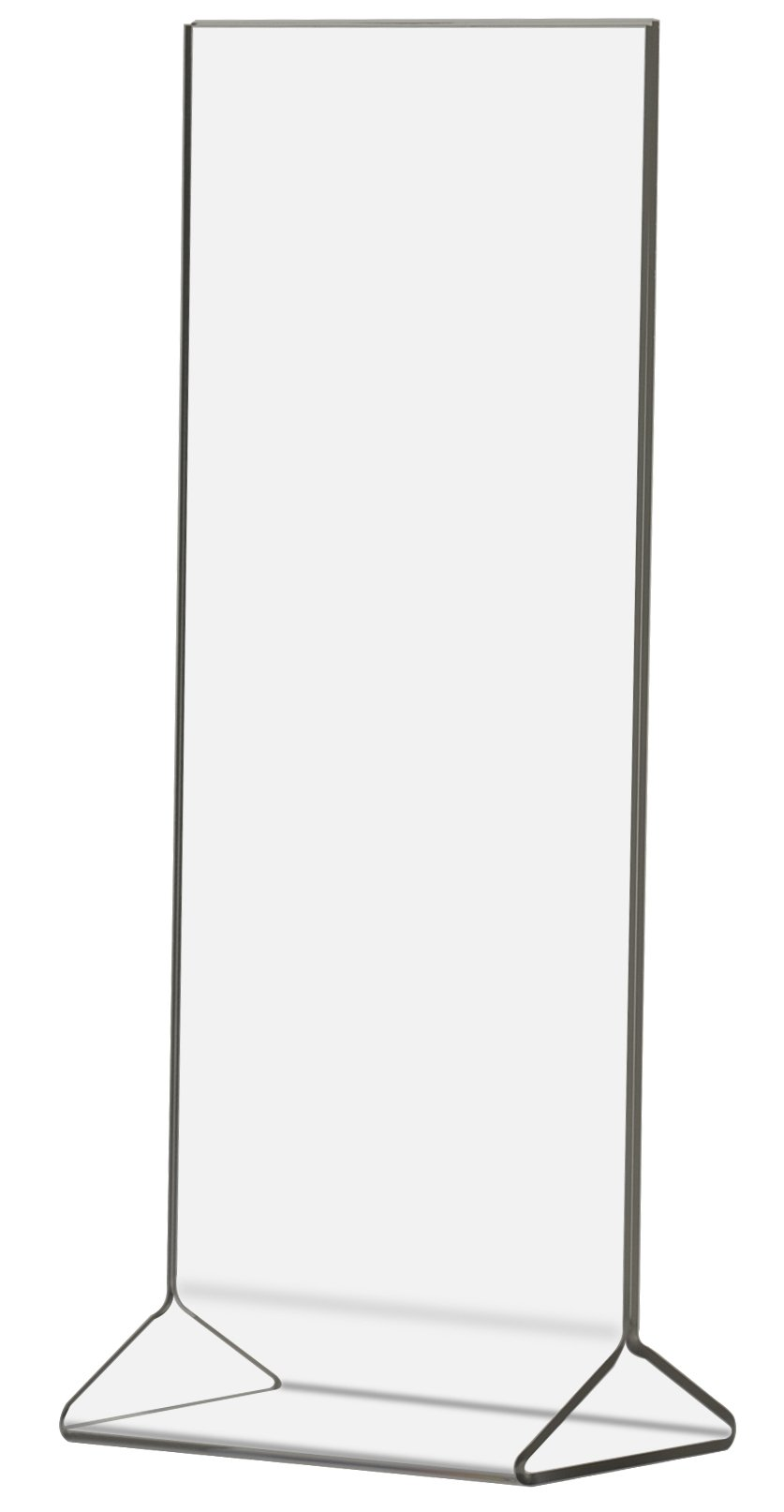 Marketing Holders 4'' w x 9'' h Table Ad Frame Top Load Menu Promo POP Display Signage Stand Clear Acrylic 1 Pack of 8
