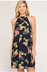 a8e98501ea6 She + Sky Holy Pineapple Halter Dress