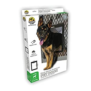 Hakuna Pets Deluxe Adjustable Dog & Cat Door w/Magnetic Catch, Large, Black Click on image for further info.