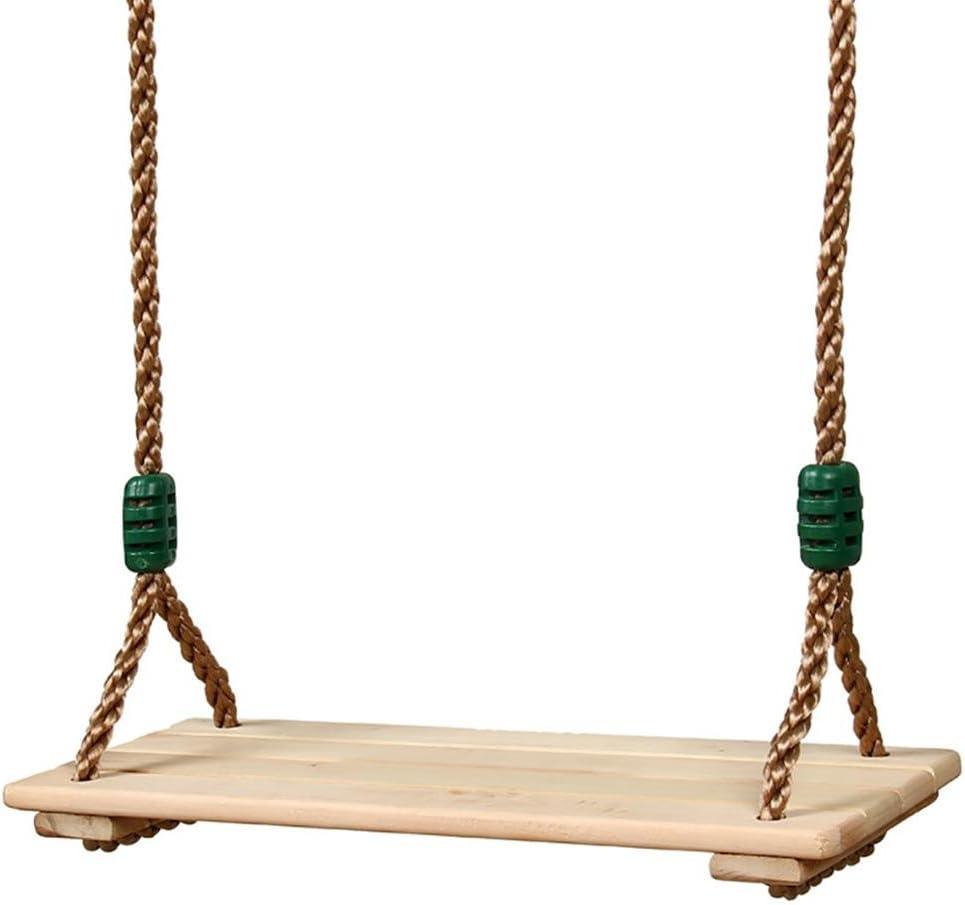 Besteffie - Columpio para colgar árbol para adultos y niños, pulido, 4 tablas, madera anticorrosión, columpio para exteriores e interiores