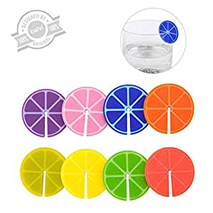 Balvi - Marca copas Fruit Party x8 colores surt.