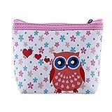 LZIYAN Cute Coin Purse Cartoon Owl Pattern Coin Purse Clutch Bag Portable Small Wallet With Zipper Storage Bag Creative Gift For Women,1#