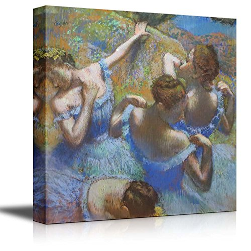 wall26 - Dancers in Blue, 1890 by Edgar Degas - Canvas Print Wall Art Famous Painting Reproduction - 12