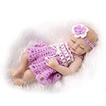 """TERABITHIA Miniature 11"""" Real Life Beautiful Dreamer Newborn Baby Doll Full Silicone Vinyl Collectible Toys for Girl"""